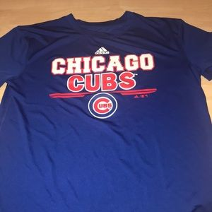 Youth L Chicago Cubs Adidas climate T-shirt